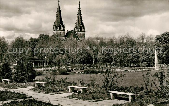 AK / Ansichtskarte Goeppingen Park Oberhofenkirche Goeppingen