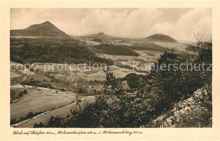 AK / Ansichtskarte Goeppingen Landschaftspanorama mit Stuifen Hohenstaufen und Hohenrechberg Goeppingen