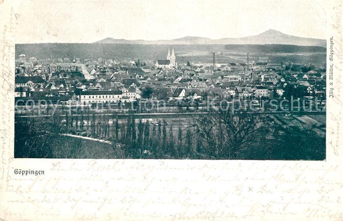AK / Ansichtskarte Goeppingen Stadtpanorama mit Hohenstaufen Goeppingen