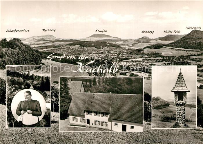 AK / Ansichtskarte Donzdorf Gasthaus zur Mutter Franzel auf der Kuchalb Bildstock Landschaftspanorama Schwaebische Alb Bromsilber Donzdorf
