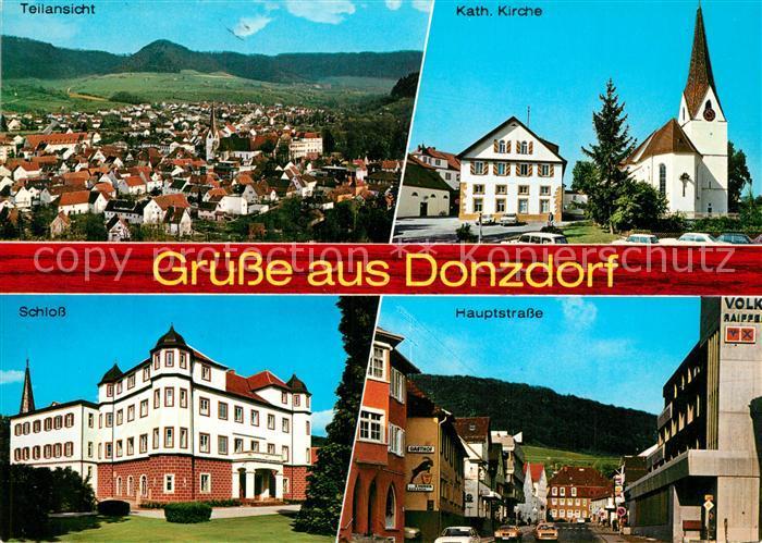 AK / Ansichtskarte Donzdorf Panorama Schwaebische Alb Kirche Hauptstrasse Schloss Donzdorf