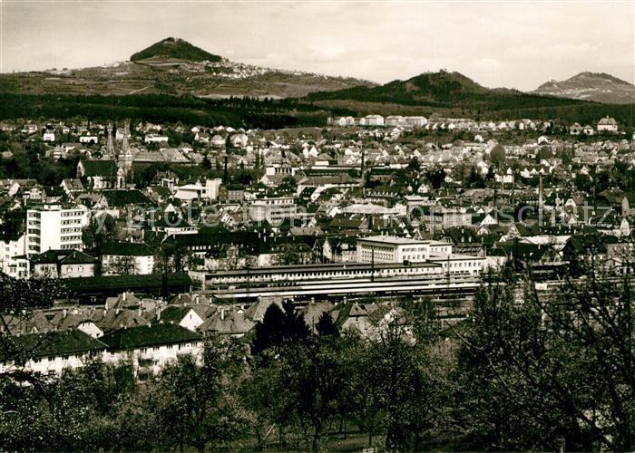 AK / Ansichtskarte Goeppingen Stadtpanorama mit Hohenstaufen und Hohenrechberg Goeppingen