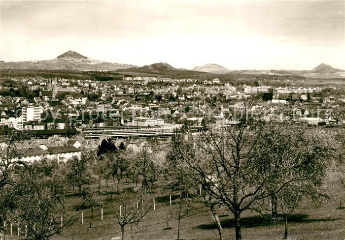 AK / Ansichtskarte Goeppingen Panorama mit den Kaiserbergen Hohenstaufen Hohenrechberg Stuifen Goeppingen