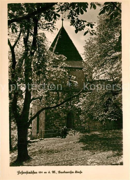 AK / Ansichtskarte Hohenstaufen Barbarossa Kirche Hohenstaufen