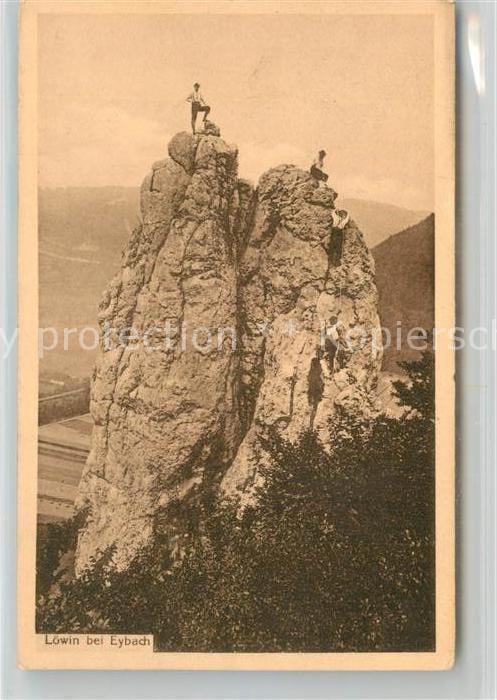 AK / Ansichtskarte Eybach_Geislingen_Steige Loewin Felsen Schwaebische Alb Eybach_Geislingen_Steige
