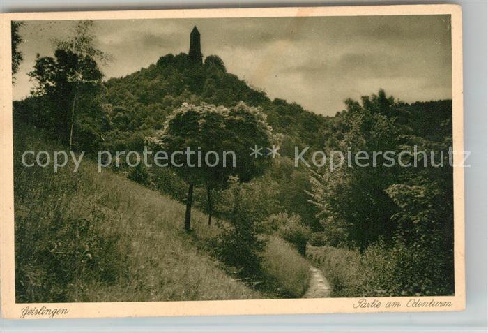 AK / Ansichtskarte Geislingen_Steige Partie am oedenturm Schwaebische Alb Geislingen_Steige