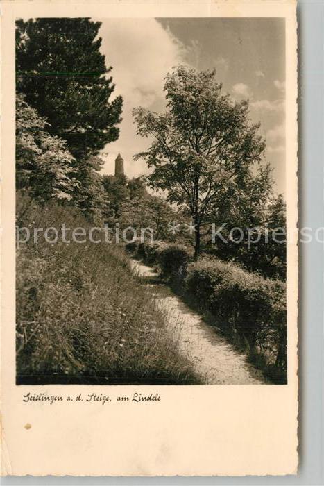 AK / Ansichtskarte Geislingen_Steige Partie am Lindele mit oedenturm Schwaebische Alb Geislingen_Steige