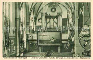 AK / Ansichtskarte Ruestringen Marine Gedaechtnis Kirche Inneres Ruestringen