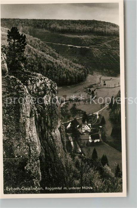 AK / Ansichtskarte Eybach_Geislingen_Steige Roggental mit unterer Muehle Eybach_Geislingen_Steige