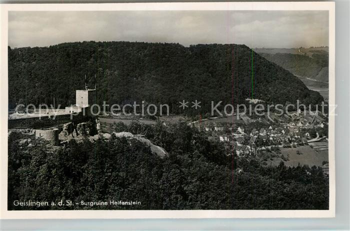 AK / Ansichtskarte Geislingen_Steige Burgruine Helfenstein Geislingen_Steige