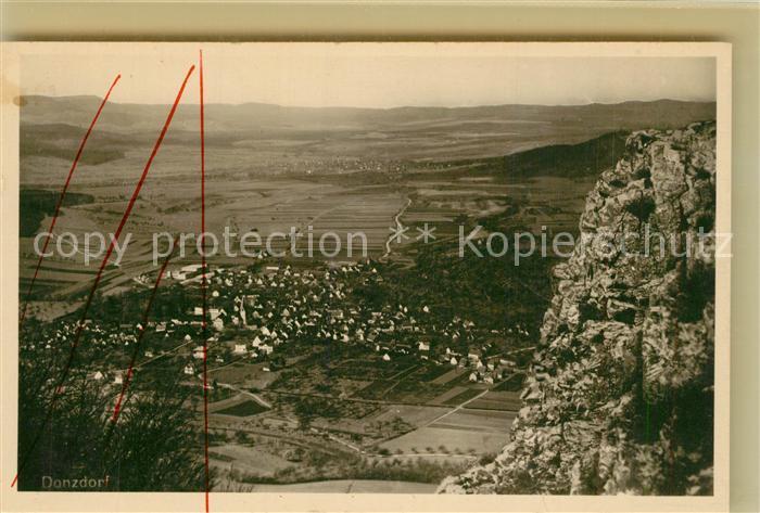 AK / Ansichtskarte Donzdorf Talblick Felsen Schwaebische Alb Donzdorf