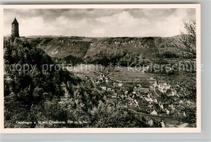 AK / Ansichtskarte Geislingen_Steige oedenturm Panorama Blick ins Tal Geislingen_Steige