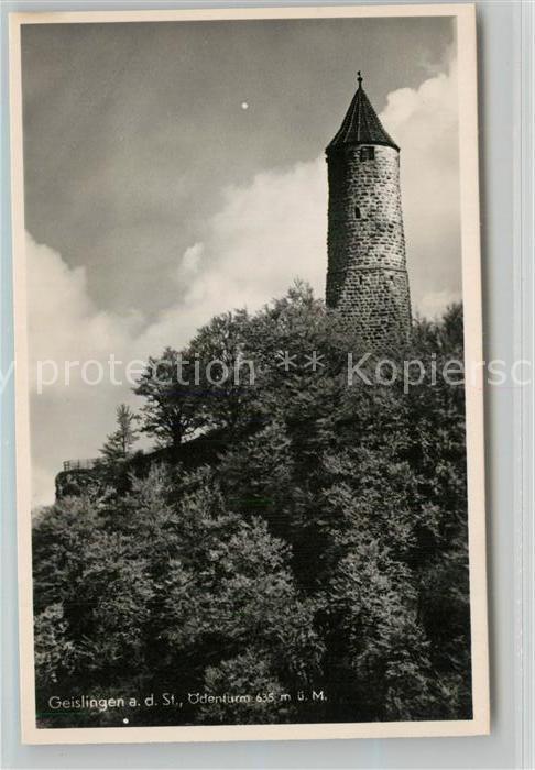 AK / Ansichtskarte Geislingen_Steige oedenturm Schwaebische Alb Geislingen_Steige