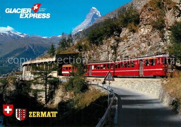 AK / Ansichtskarte Eisenbahn Glacier Express Zermatt Matterhorn  Eisenbahn 0