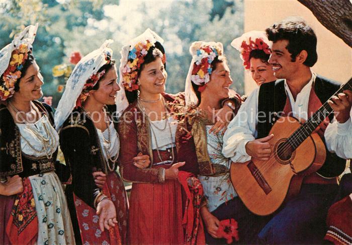 AK / Ansichtskarte Trachten_Griechenland Corfu Gitarre  0