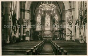 AK / Ansichtskarte Wilhelmshaven Marine Gedaechtnis Kirche Inneres Wilhelmshaven
