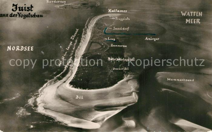 AK / Ansichtskarte Insel_Juist Fliegeraufnahme Insel_Juist 0