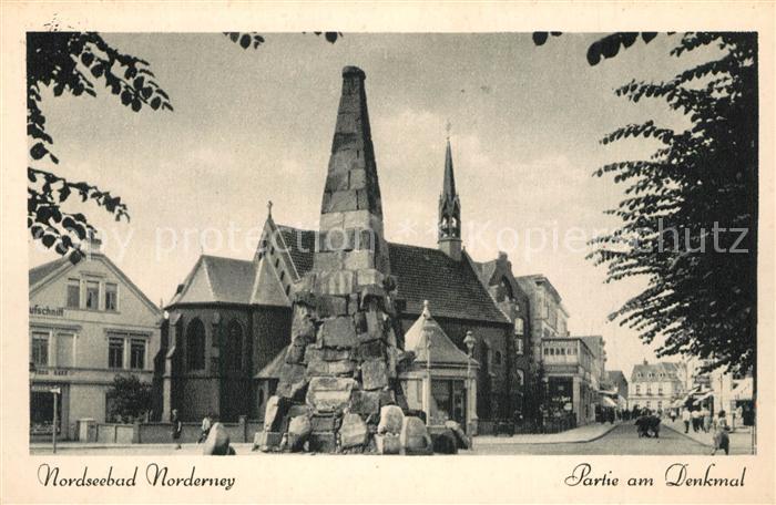 AK / Ansichtskarte Norderney_Nordseebad Denkmal Norderney_Nordseebad 0
