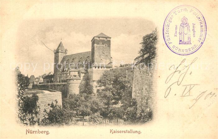 AK / Ansichtskarte Nuernberg Kaiserstallung Nuernberg 0