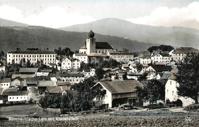 AK / Ansichtskarte Lam_Oberpfalz mit Riedelstein Lam_Oberpfalz 0