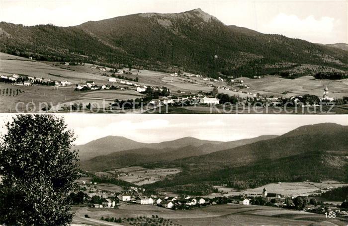 AK / Ansichtskarte Lam_Oberpfalz Panorama mit Osser Gr und Kl Arber und Schwarzeck Lam_Oberpfalz
