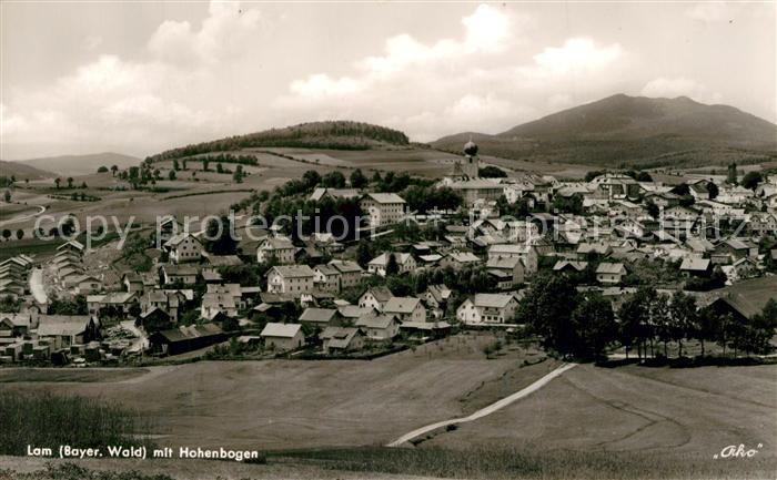 AK / Ansichtskarte Lam_Oberpfalz mit Hohenbogen Lam_Oberpfalz
