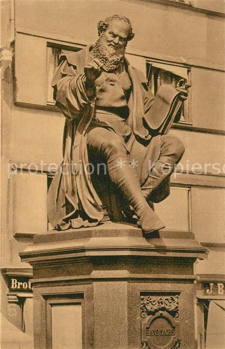 AK / Ansichtskarte Nuernberg Hans Sachs Denkmal Nuernberg 0