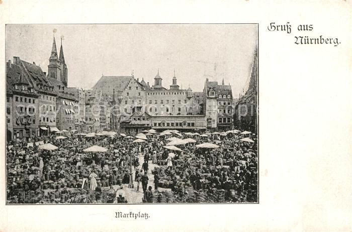 AK / Ansichtskarte Nuernberg Marktplatz Nuernberg 0