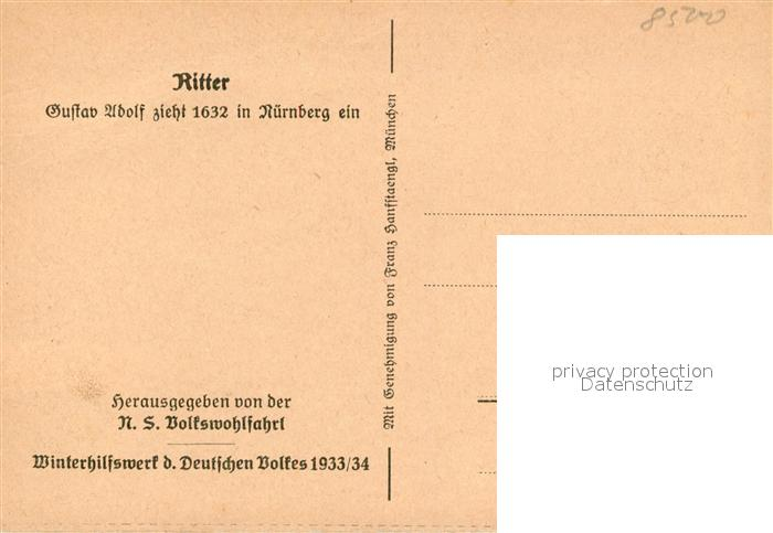 AK / Ansichtskarte Nuernberg Gustav Adolf zieht 1632 in Nuernberg ein Nuernberg 1