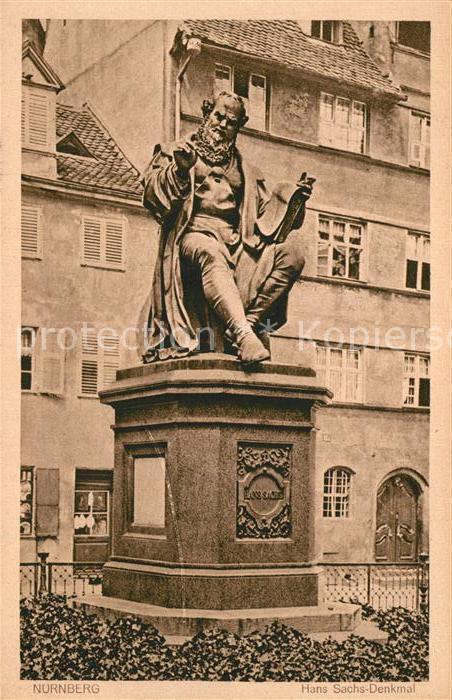AK / Ansichtskarte Nuernberg Hans Sachs Denkmal Nuernberg