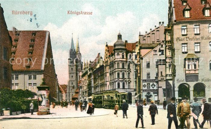 AK / Ansichtskarte Nuernberg Koenigstrasse Nuernberg 0