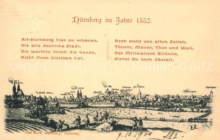 AK / Ansichtskarte Nuernberg Mittelalterliches Staedtebild Nuernberg 0