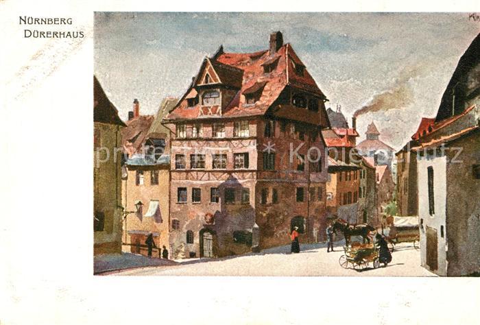 AK / Ansichtskarte Nuernberg Duererhaus Kuenstlerkarte Nuernberg 0