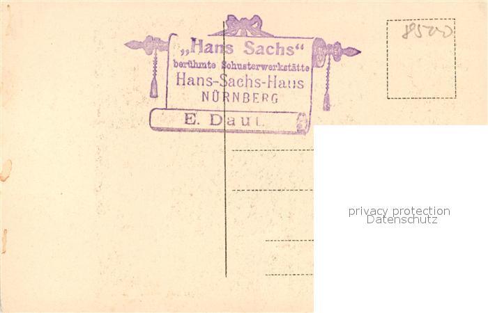 AK / Ansichtskarte Nuernberg Hans Sachs Schuster Werkstaette Nuernberg 1