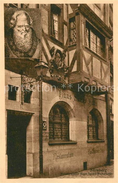 AK / Ansichtskarte Nuernberg Meistersinger Hans Sachs Wohnhaus Nuernberg