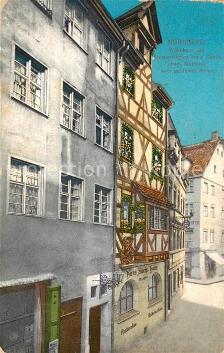 AK / Ansichtskarte Nuernberg Wohnhaus des Meistersingers Hans Sachs Nuernberg 0