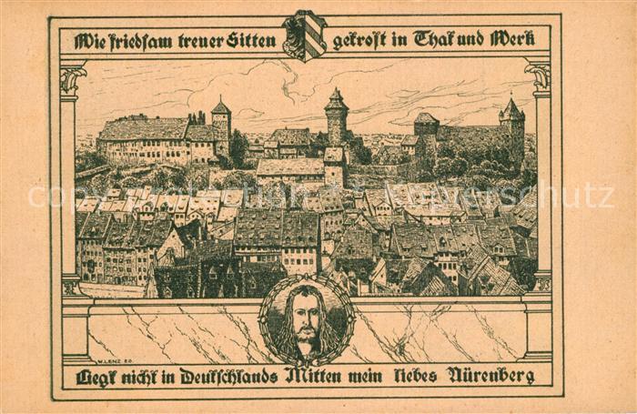AK / Ansichtskarte Nuernberg Mittelalterliche Stadt mit Burg Nuernberg 0