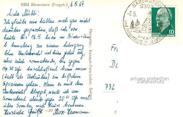 AK / Ansichtskarte Baerenstein_Annaberg Buchholz Panorama Baerenstein 1