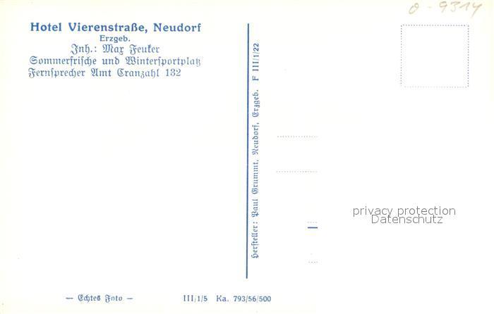AK / Ansichtskarte Neudorf_Annaberg Hotel Vierenstrasse Neudorf Annaberg 1