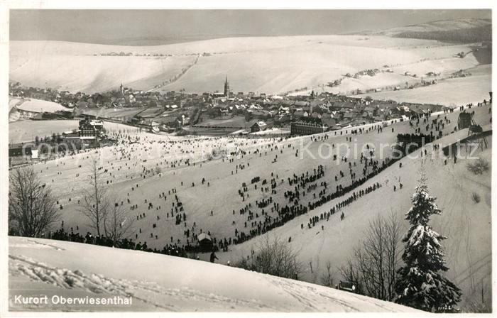 AK / Ansichtskarte Oberwiesenthal_Erzgebirge Winterpanorama Oberwiesenthal Erzgebirge 0