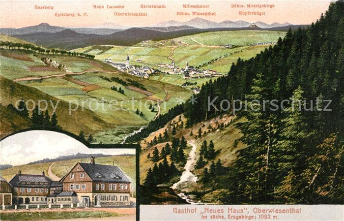 AK / Ansichtskarte Oberwiesenthal_Erzgebirge Gasthof Neues Haus Boehm Mittelgebirge Oberwiesenthal Erzgebirge 0