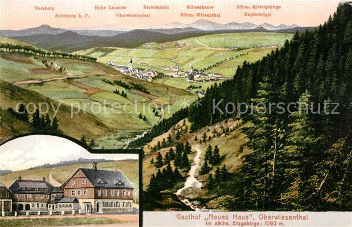 AK / Ansichtskarte Oberwiesenthal_Erzgebirge Gasthof Neues Haus Boehm Mittelgebirge Oberwiesenthal Erzgebirge