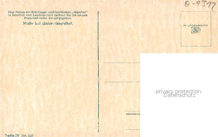 AK / Ansichtskarte Oberwiesenthal_Erzgebirge Motiv bei Unterwiesenthal Oberwiesenthal Erzgebirge 1
