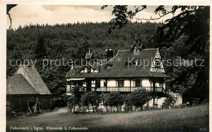 AK / Ansichtskarte Falkenstein_Vogtland Hanneloh Falkenstein_Vogtland 0