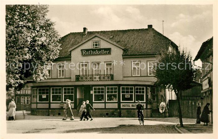 AK / Ansichtskarte Neustadt_Harz Hotel Rathskeller Neustadt_Harz 0