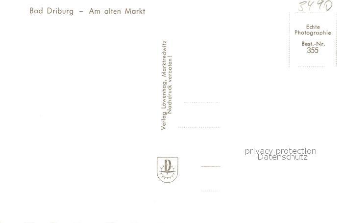 AK / Ansichtskarte Bad_Driburg Am alten Markt Bad_Driburg 1