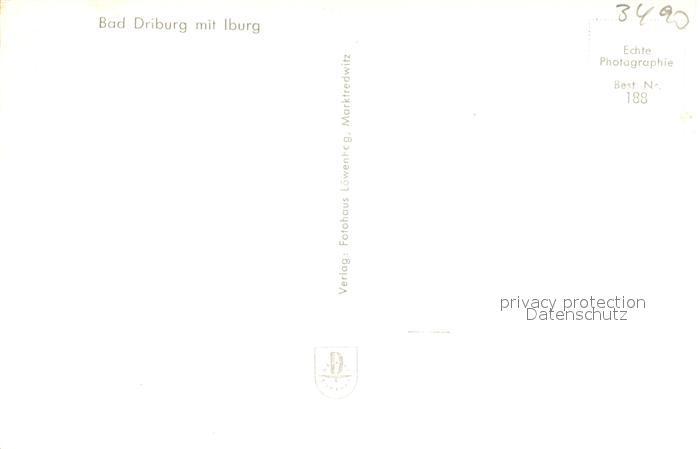 AK / Ansichtskarte Bad_Driburg Fliegeraufnahme Bad_Driburg 1