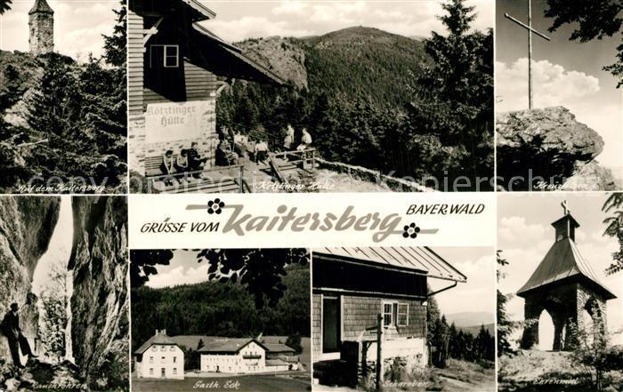 AK / Ansichtskarte Cham_Oberpfalz Kaitersberg Koetztinger Huette Kreuzfelsen Rauchroehren Gasthaus Eck Schareben Ehrenmal Cham Oberpfalz 0