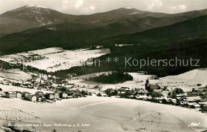 AK / Ansichtskarte Lam_Oberpfalz mit Gr und Kl Arber Lam_Oberpfalz 0