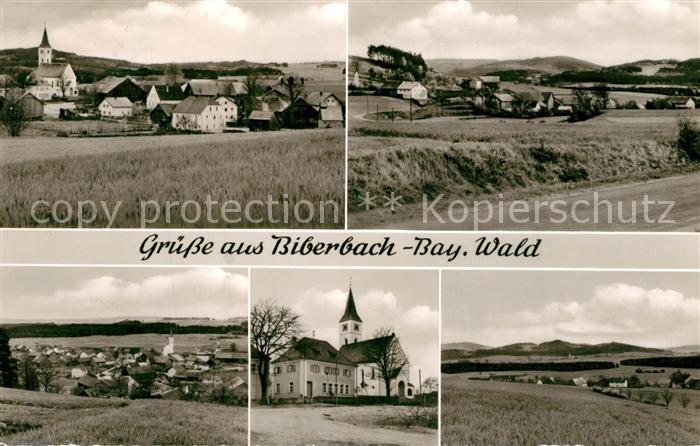 AK / Ansichtskarte Biberbach_Waldmuenchen Panorama Kirche Biberbach Waldmuenchen 0